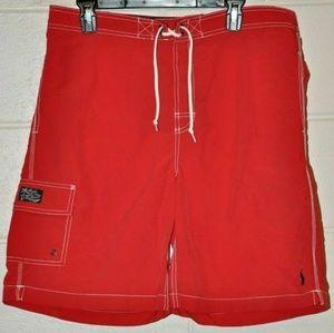 Ralph Lauren Red swim trunks size L